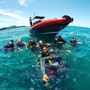 Living the Dream - teaching people to scuba dive for a job !