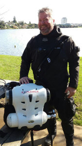 Nick completing his Hollis Explorer Rebreather course