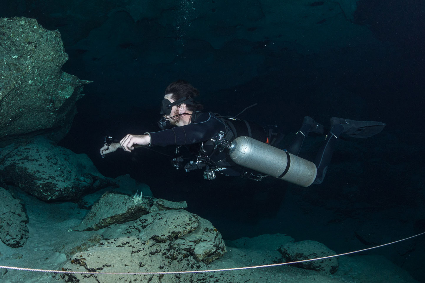 PADI sidemount training